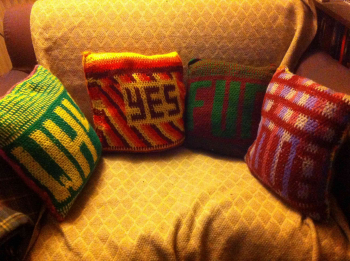 Double Sided Crochet Cushions