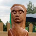 Houghton on the Hill C of E Primary School Wood carving