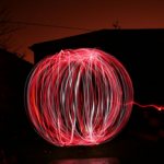 A Light painting - photography work